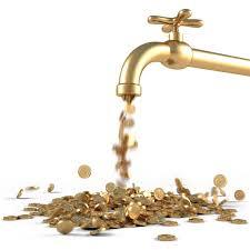robinet crachant de l'argent